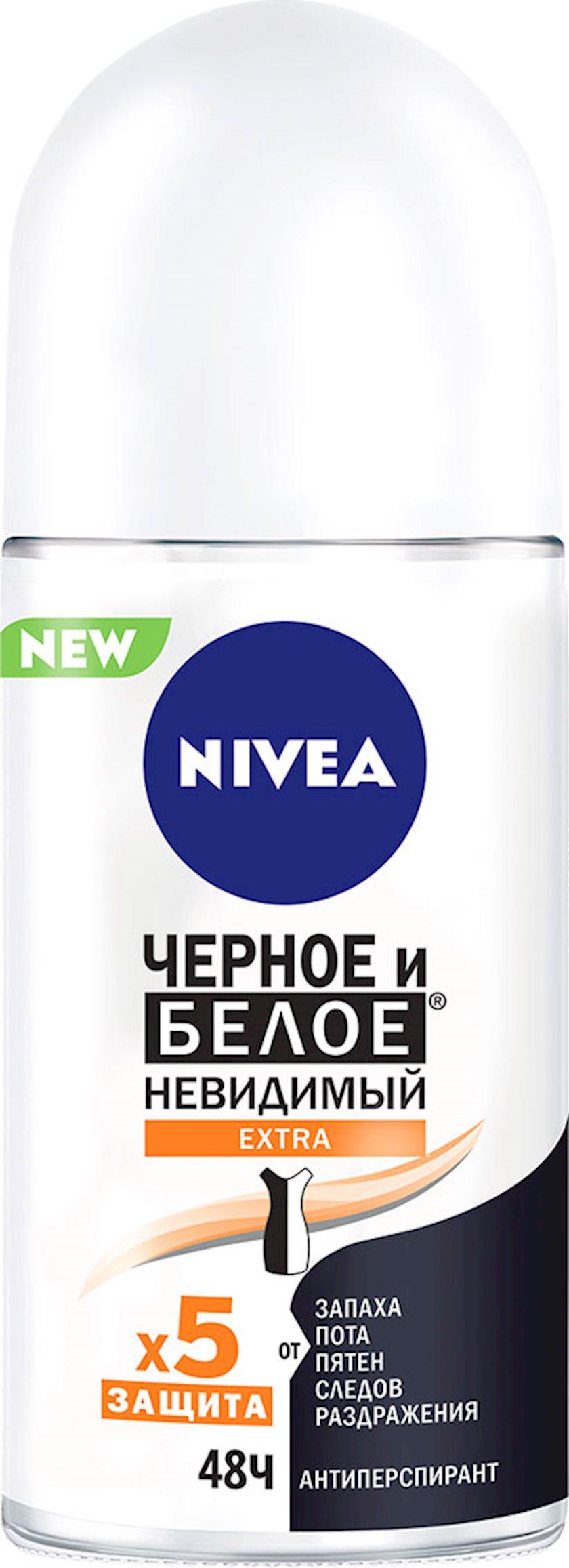 Dezodorant-antiperspirant Nivea Extra qara və ağ 50 ml