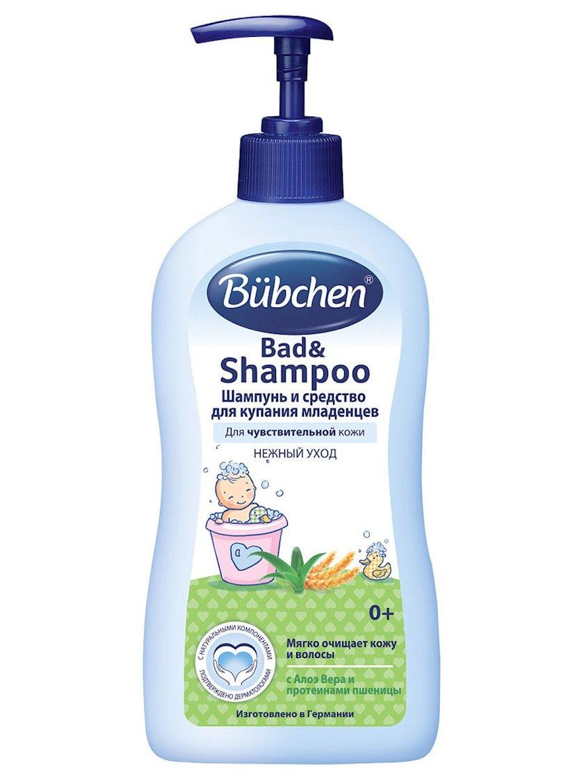 Şampun və körpələri çimdirmək üçün vasitə Bubchen 2-si 1-də 400 ml