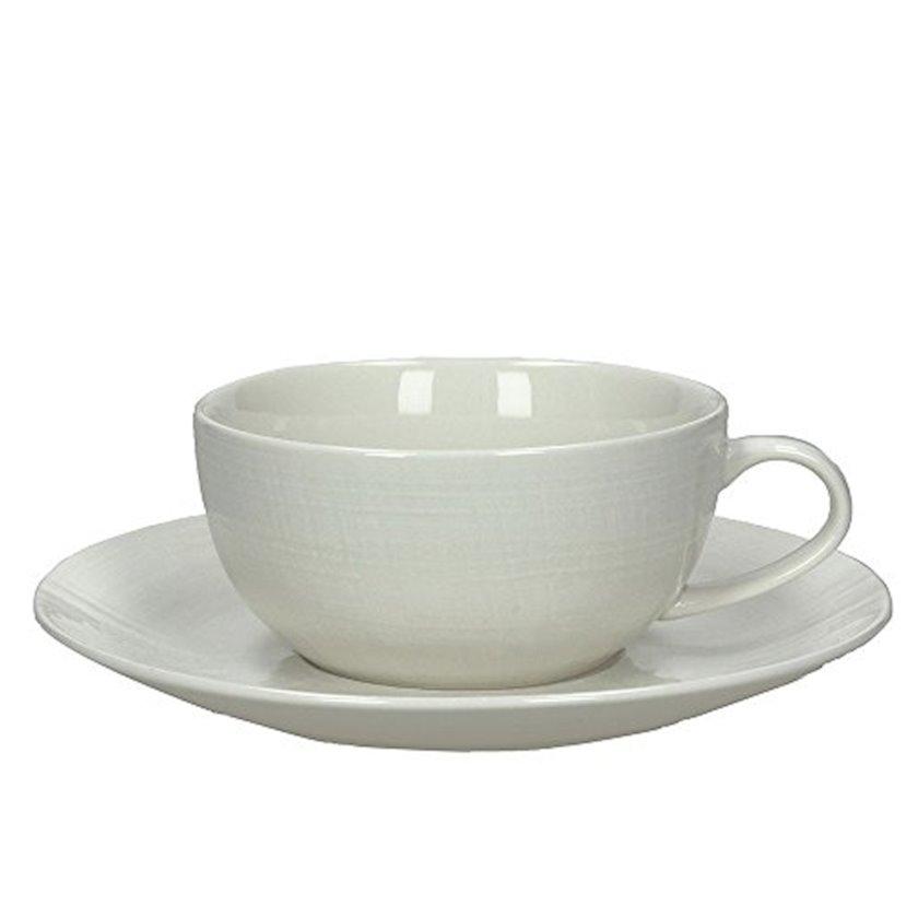 Çay üçün fincan dəsti nəlbəkilər ilə Tognana Victoria, ağ, 2 əd