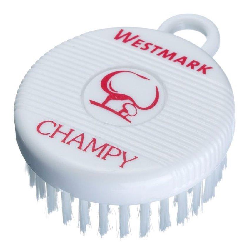 Göbələk fırçası Westmark Champy, plastik, ağ, 78x60x27 mm