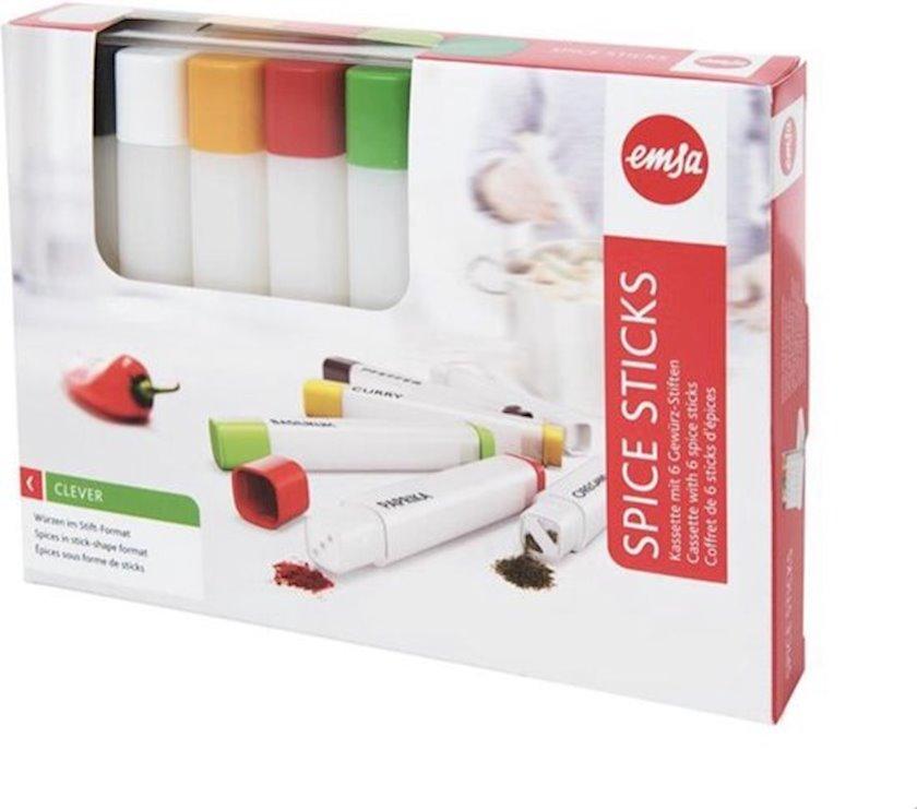 Ədviyyat qabı Emsa Spice Sticks, plastik, 0.035 l, 6 əd