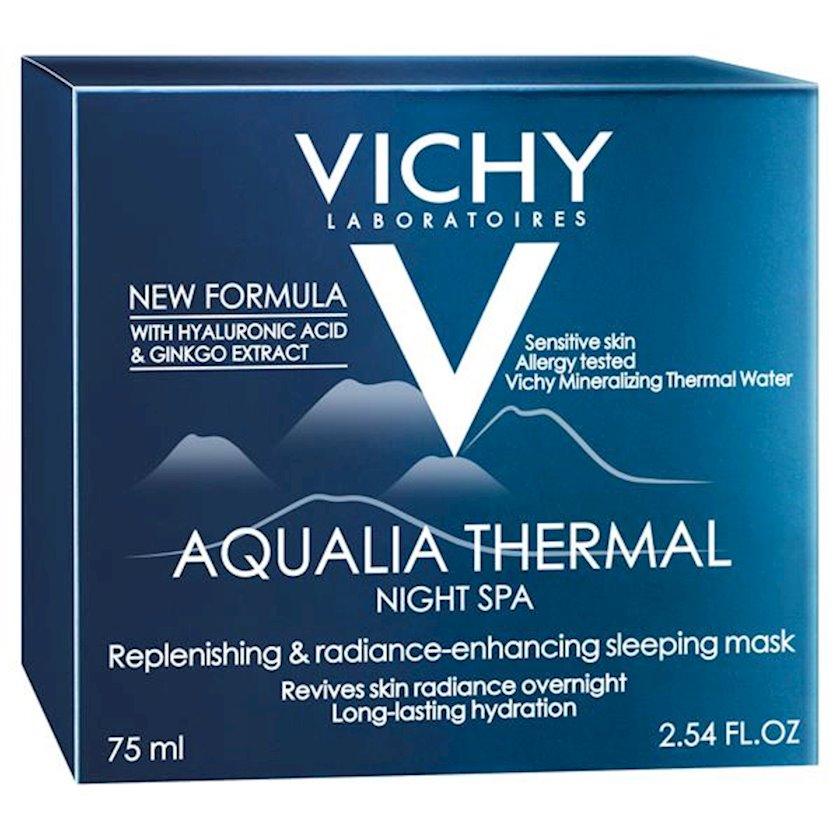 Uz üçün gecə krem-geli Vichy Aqualia Thermal Night SPA dərin nəmləndirmə üçün 50ml