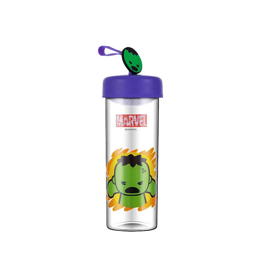 Su üçün plastik butulka Miniso Marvel Hulk 450 ml