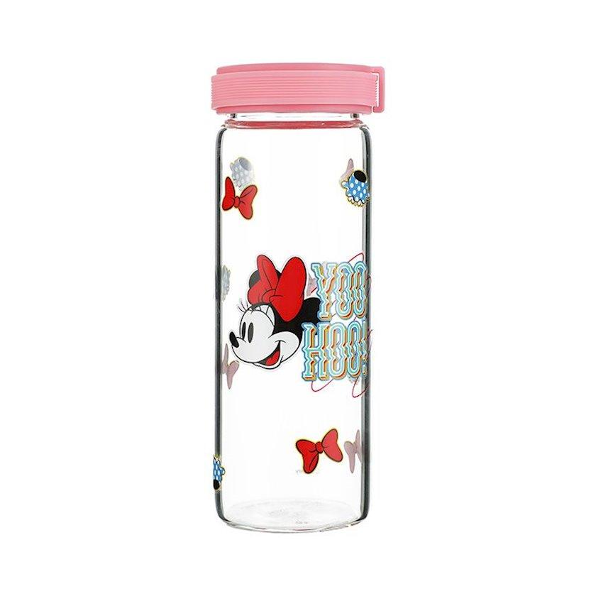 Borosilikat şüşədən su üçün butulka Miniso Mickey Mouse 300 ml