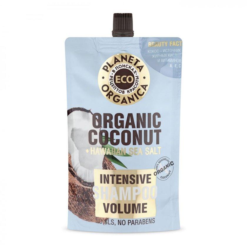 Şampun Planeta Organica Eco Organic Coconut saçların həcmi üçün 200 ml