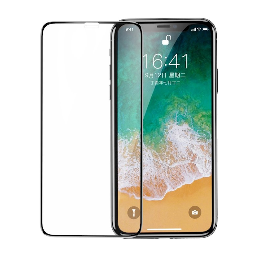 Qoruyucu şüşə Baseus Full Coverage Curved Tempered Glass Protector for iPhone XS/iPhone X/iPhone 11 Pro