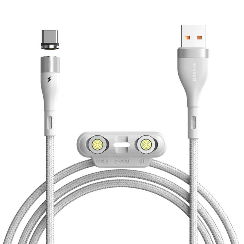 Kabel Baseus Zinc Magnetic Safe Fast Charging Data Cable USB to Lightning 2.4 A 1 m