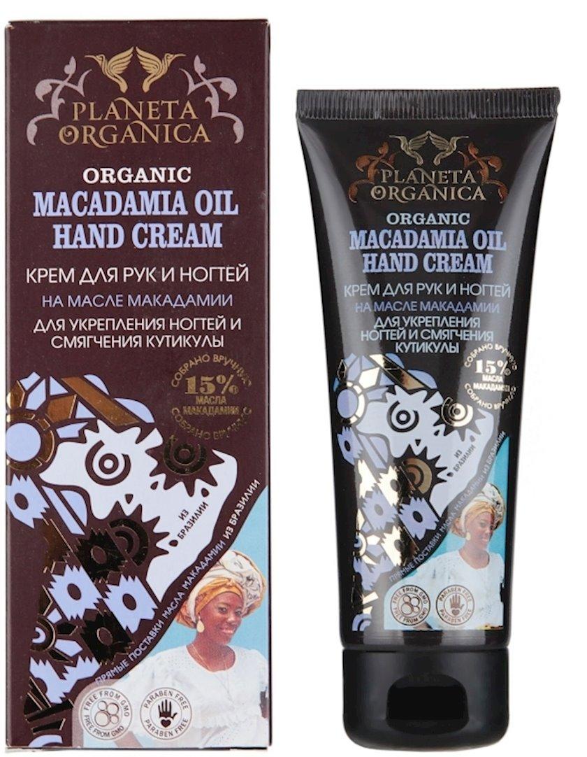 Qidalandırıcı əl və dırnaq kremi Planeta Organica Organic macadamia oil 75 ml