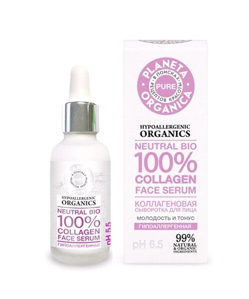 Kollagen üz serumu Planeta Organica Pure Neutral Bio 100% Collagen Face Serum 30 ml
