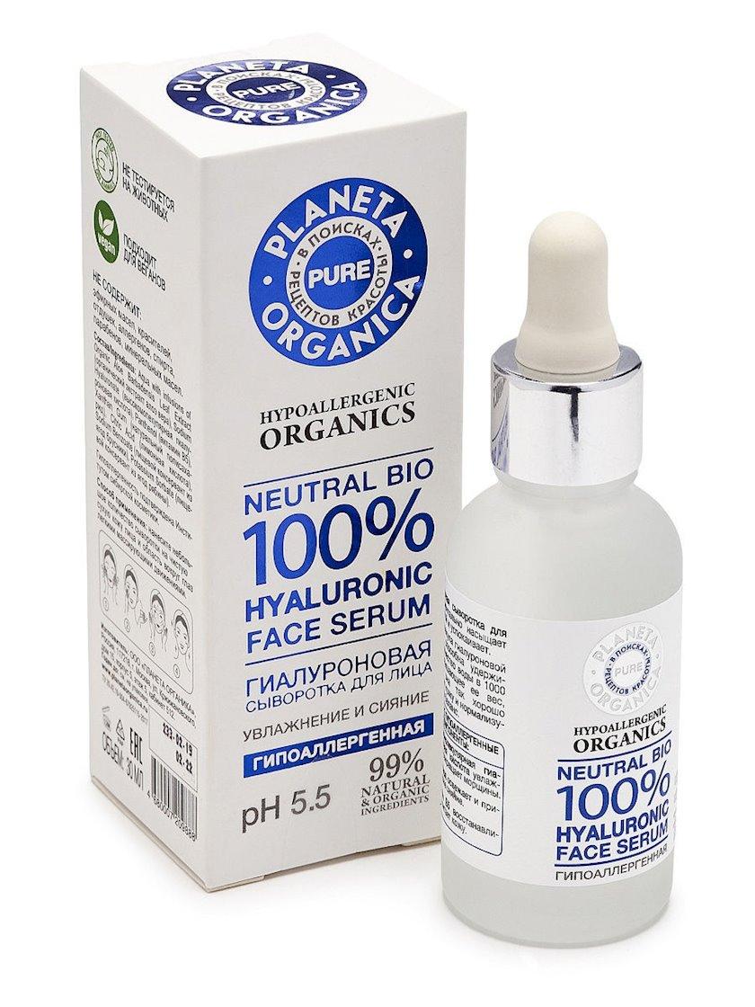 Hyaluronik üz serumu Planeta Organica Pure Neutral Bio 100% Hyaluronic Face Serum 30 ml