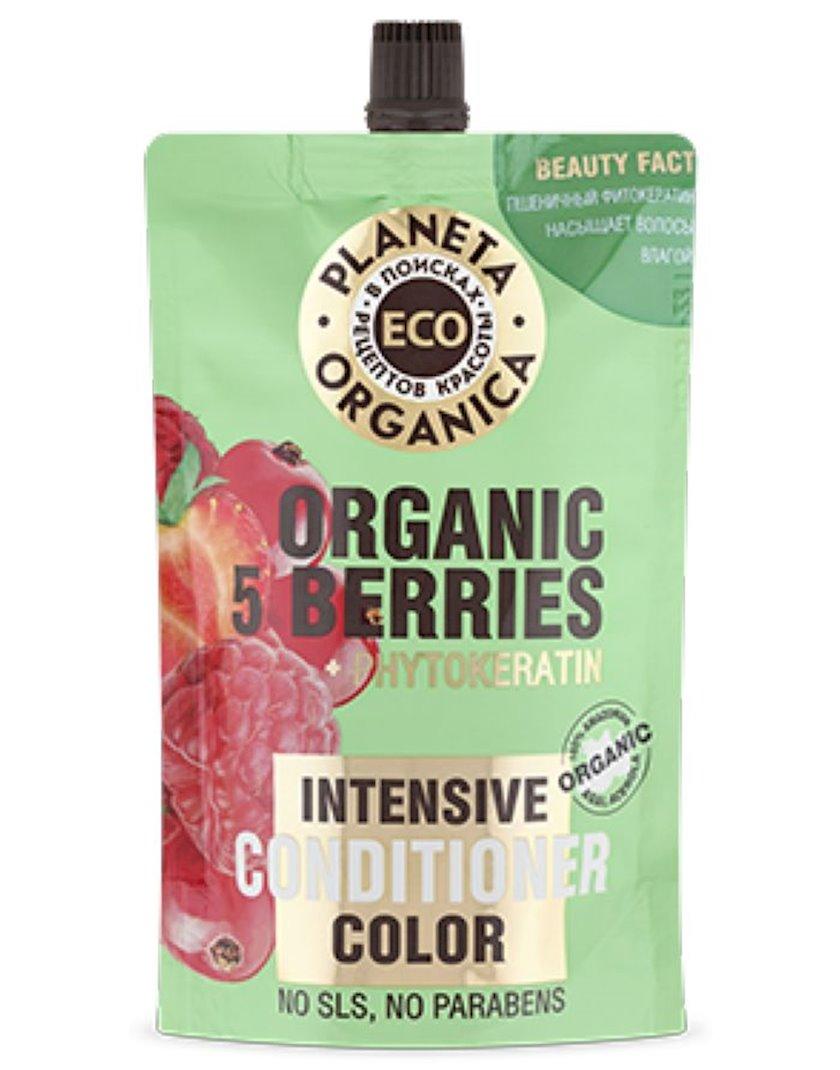 Balzam saç üçün Organica Eco Organic 5 berries daha parlaq rəng üçün 200 ml
