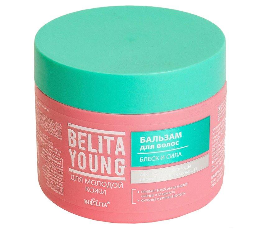 Balzam saç üçün Bielita Young Parlaqlığı və Güc 300 ml