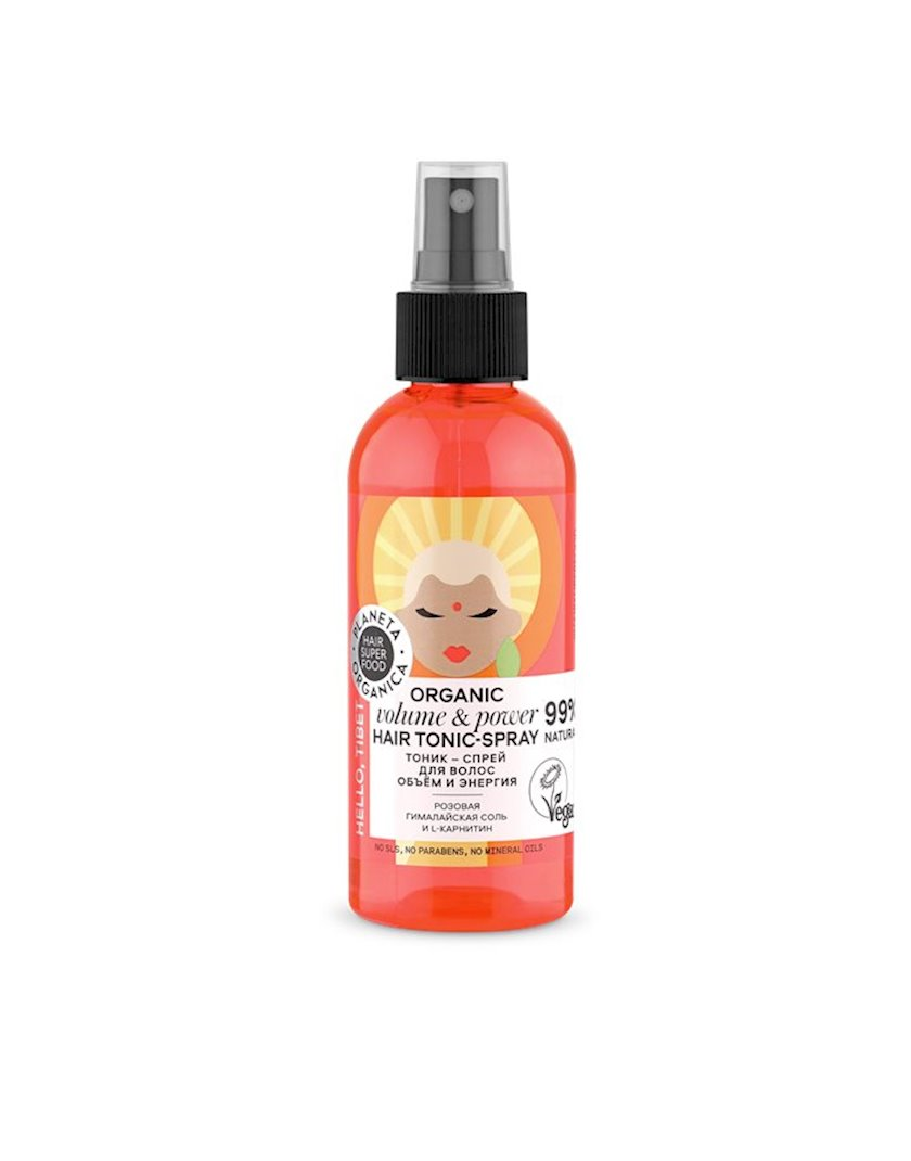 Saçlar üçün tonik-sprey Planeta Organica Hair Super Food Həm və Enerji 170 ml