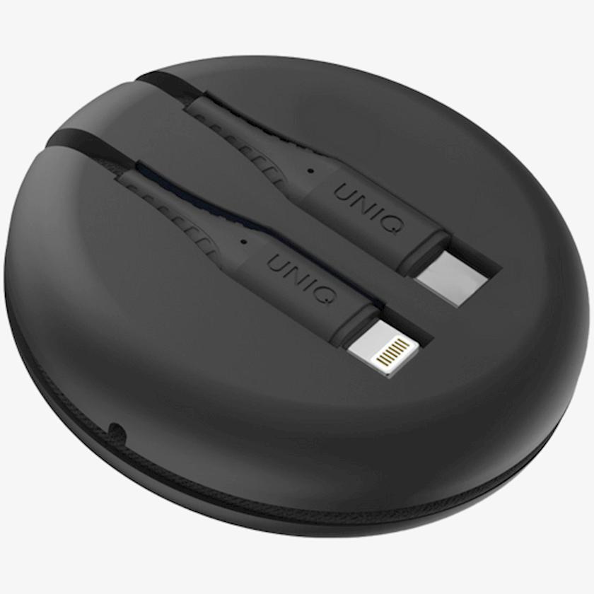 Kabel Uniq HALO USB-A TO LIGHTNING CABLE 1.2M - MIDNIGHT BLACK (BLACK)