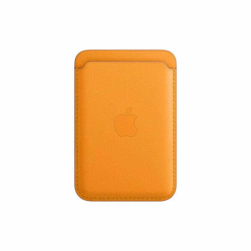 Dəri cib MagSafe Apple iPhone  12 Series üçün California Poppy