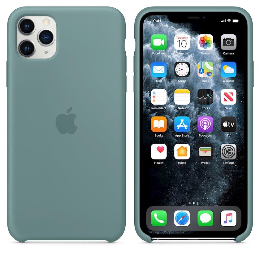 Çexol Silicone Case Apple iPhone 11 Pro Max üçün Cactus