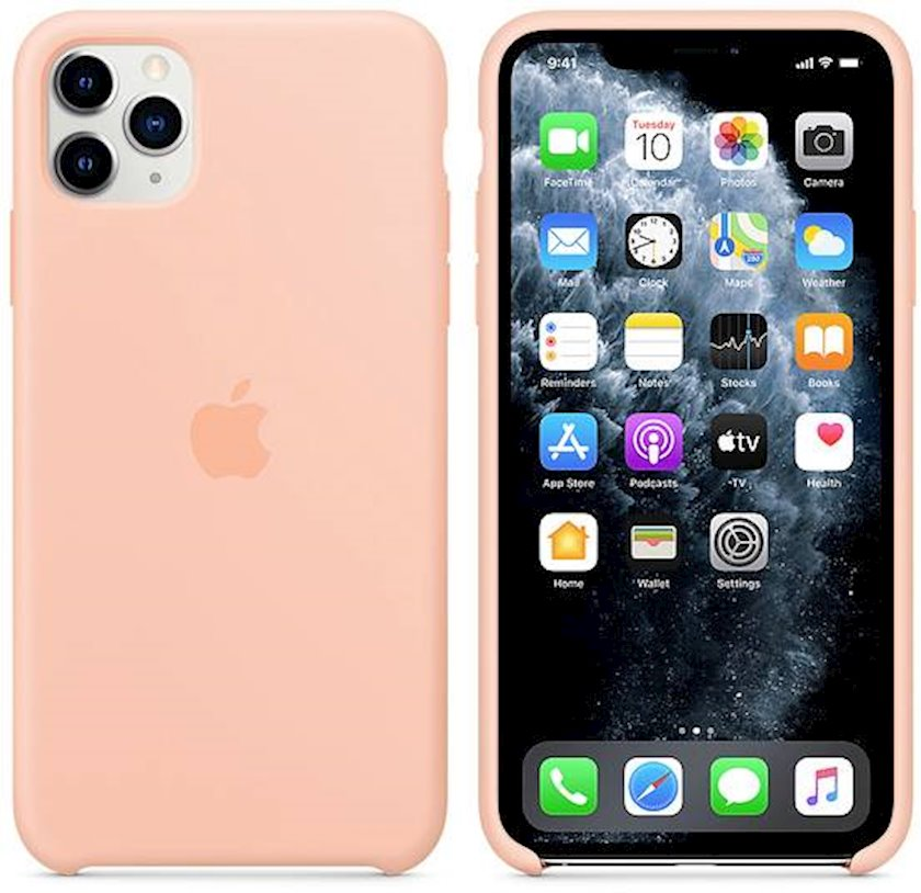 Çexol Silicone Case Apple iPhone 11 Pro Max üçün Grapefruit