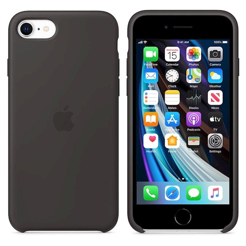 Çexol Silicone Case Apple iPhone SE üçün  Black