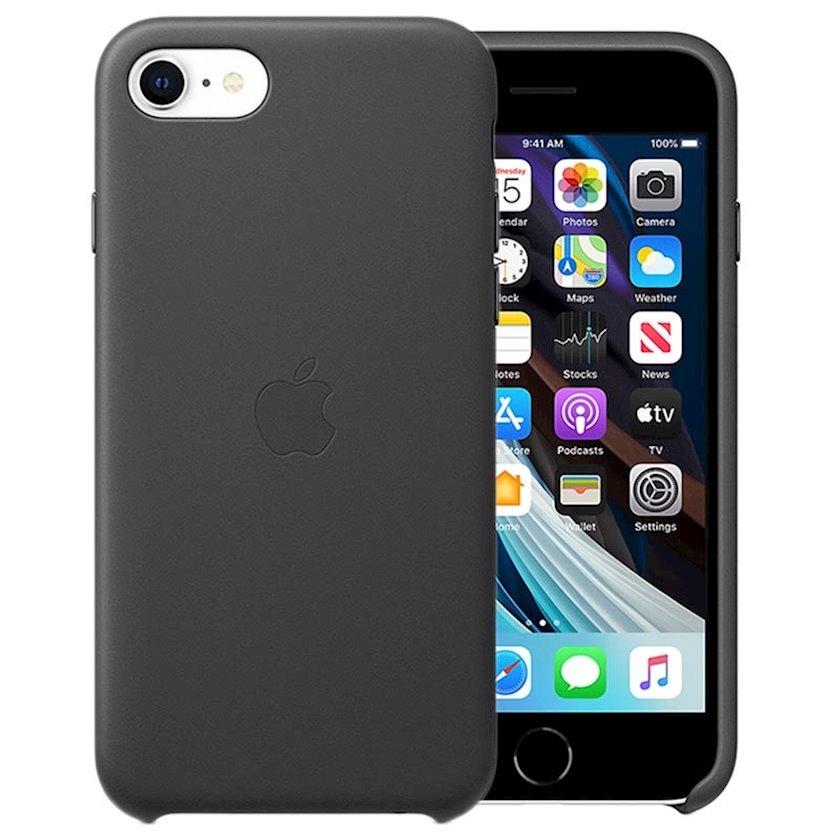 Çexol Leather Case Apple iPhone 7/8/SE üçün  2020 Black