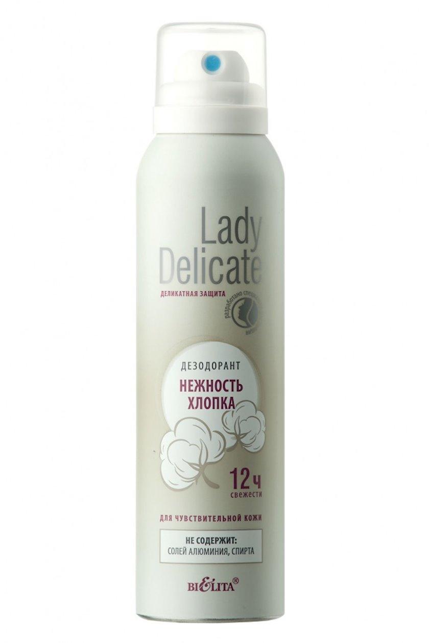 Dezodorant-antperspirant Bielita Lady Delicate Həssas dərilər üçün pambığın yumşaqlığı 150 ml