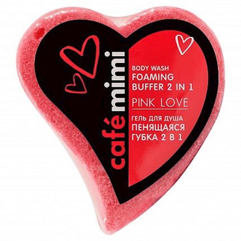 Gel-süngər 2i 1də Cafe mimi Pink love 60 q