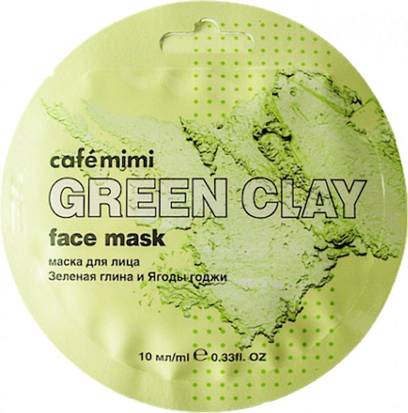 Üz maskası Cafe mimi Green Clay Yaşıl gil və Goji giləmeyvəsi 10 ml
