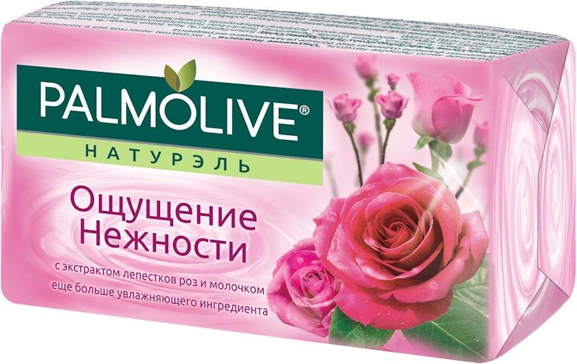 """Sabun Palmolive """"Zəriflik hissi"""" süd və qızılgül ekstraktı ilə, 90 q"""