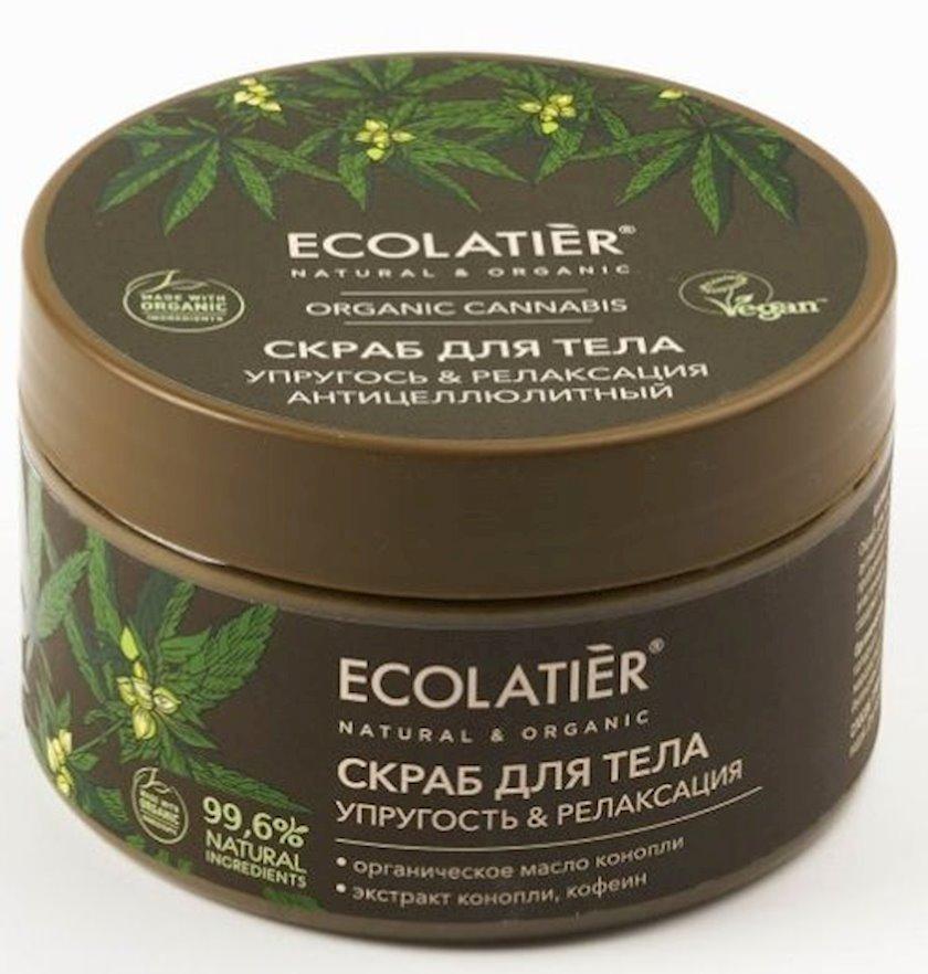Bədən skrabı Ecolatier Selülit əleyhinə Elastiklik və rahatlığı Cannabis 300 q