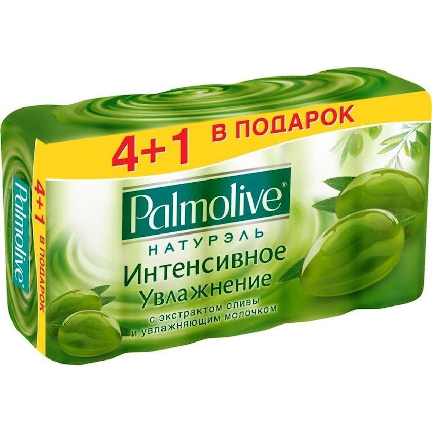 """Sabun Palmolive Naturel """"intensiv nəmləndirmə """"zeytun ekstraktı və nəmləndirici süd ilə 4х90 q"""