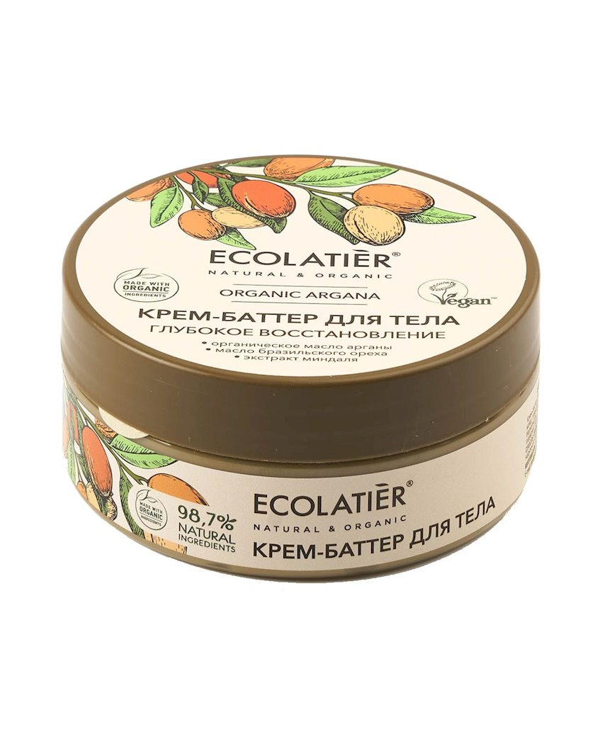 Krem-batter bədən üçün Ecolatier Dərin bərpa Organic Argana 150 ml