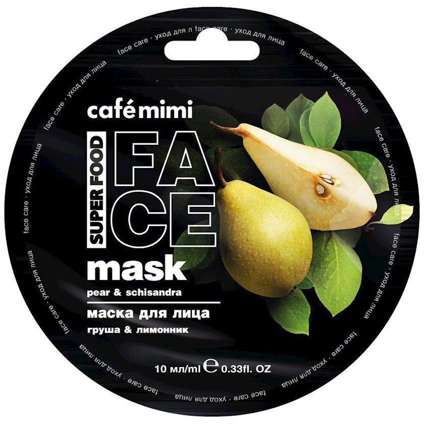 Maska üz üçün Café Mimi Armud & Limon otu 10 ml