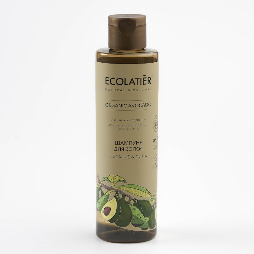 Şampun saçlar üçün Ecolatier Organic Avocado Qidalanma və Güc 250 ml