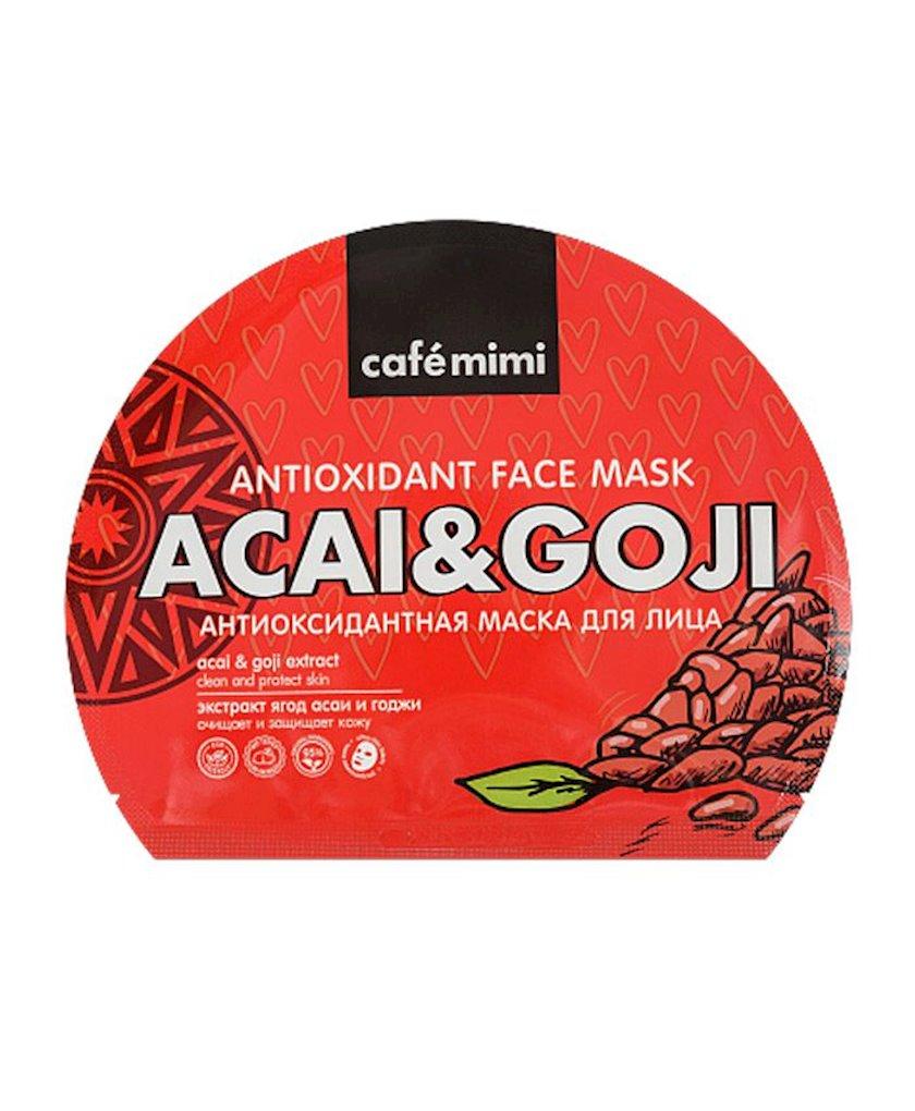 Üz üçün parça maska Cafe mimi Antioksidan acai və goji giləmeyvəsi ekstraktı ilə