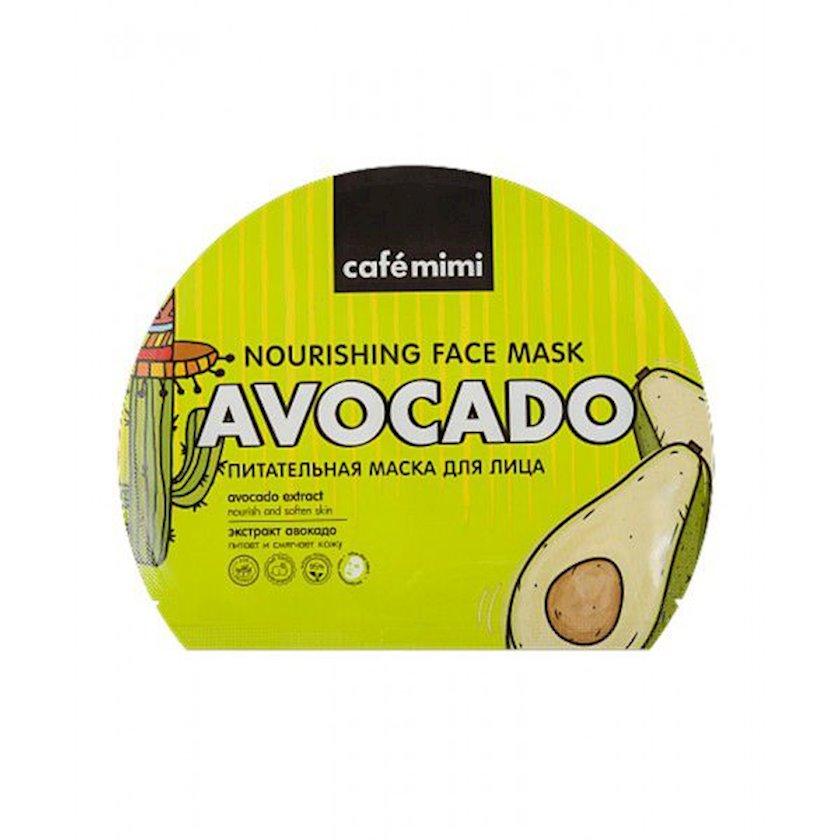 Üz üçün parça maska Cafe mimi Qidalandıcı avokado ekstraktı ilə