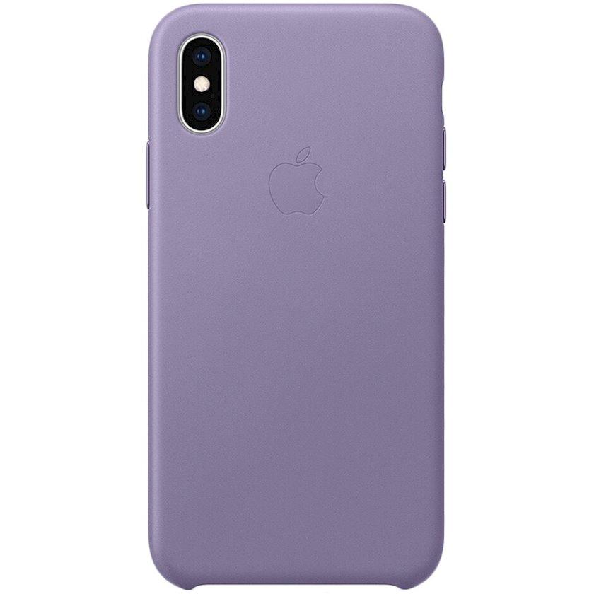 Çexol Leather Case Apple iPhone XS üçün Lilac