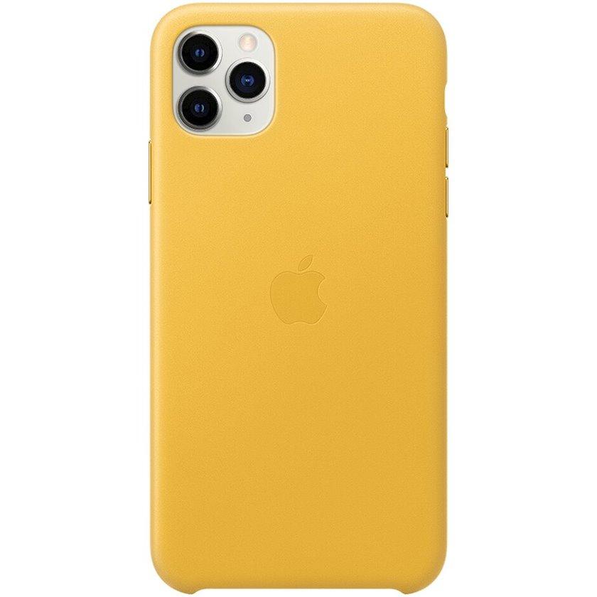 Çexol Leather Case Apple iPhone 11 Pro Max üçün Meyer Lemon