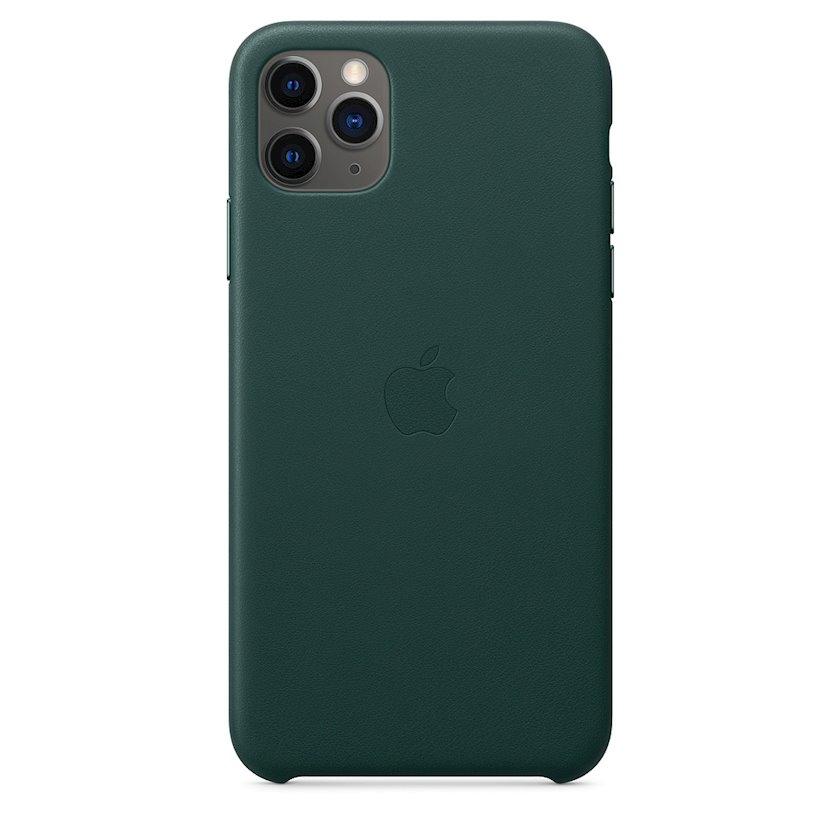 Çexol Apple iPhone 11 Pro Max üçün dəri Forest Green