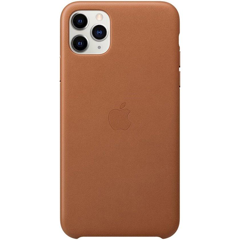 Çexol Apple iPhone 11 Pro Max üçün dəri Saddle Brown