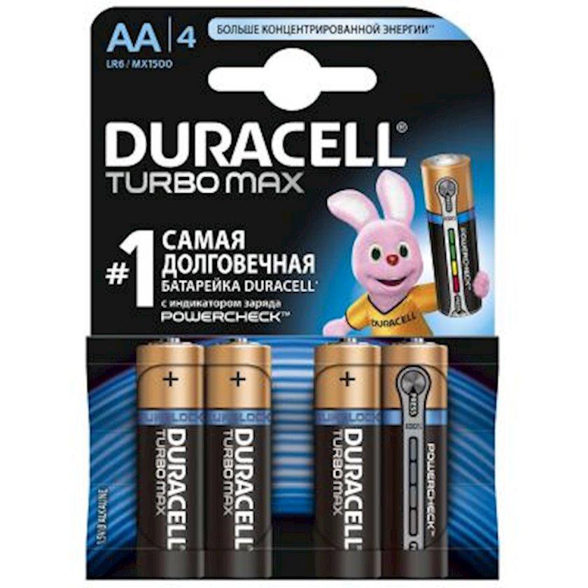 Batareya Duracell AA Turbo Max LR06 4 əd.