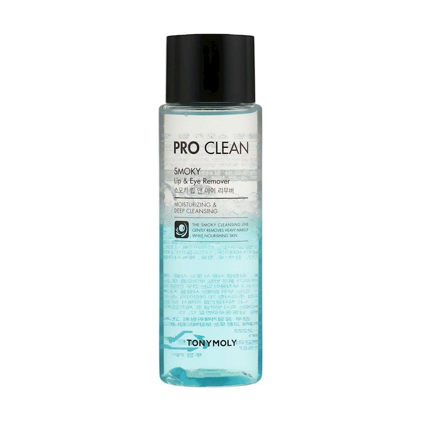 Göz və dodaq makiyajını təmizləmək üçün vasitə Tony Moly Pro Clean Smoky Lip & Eye Remover 100 ml