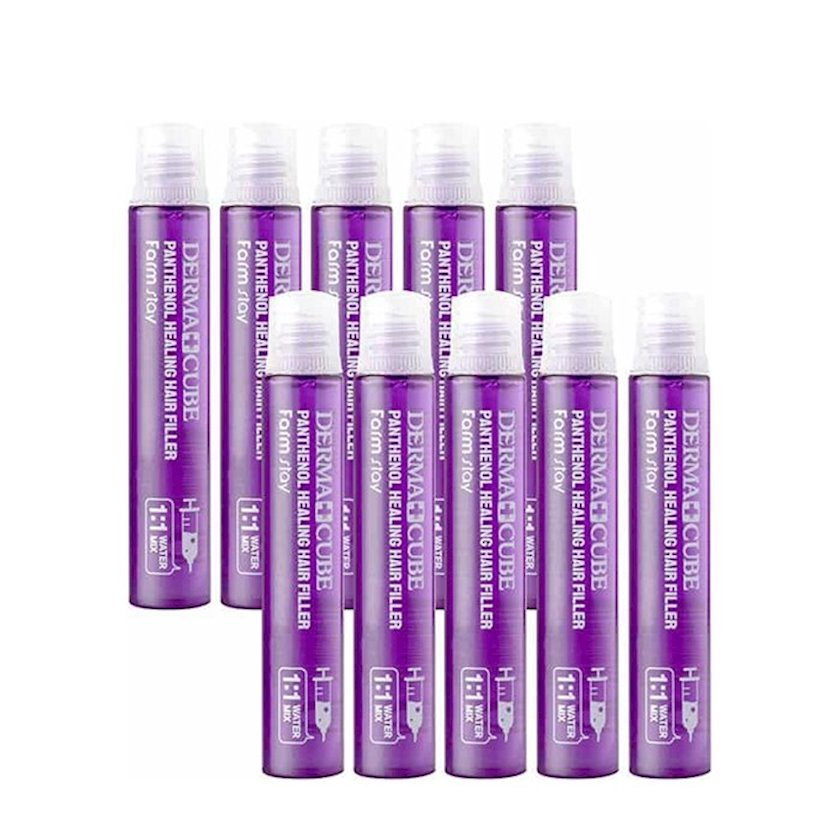 Saç dolğusu FarmStay Derma Cube Panthenol Healing Hair Filler 13 ml/10 əd
