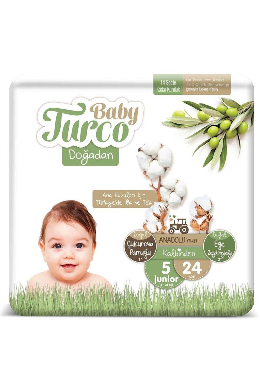 Uşaq bezləri Baby Turco Doğadan Junior 24 əd