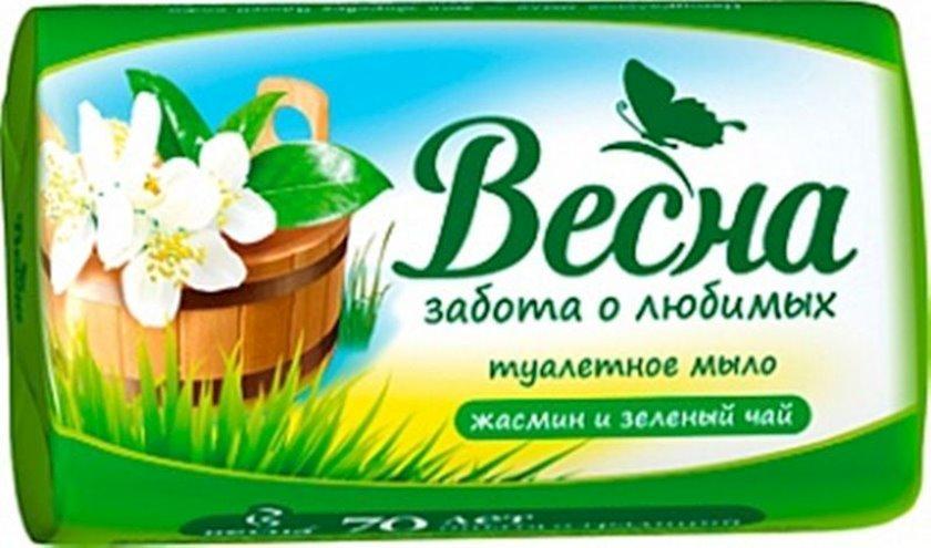 """Sabun """"Весна"""" Jasmin və yaşıl çay 90 q"""
