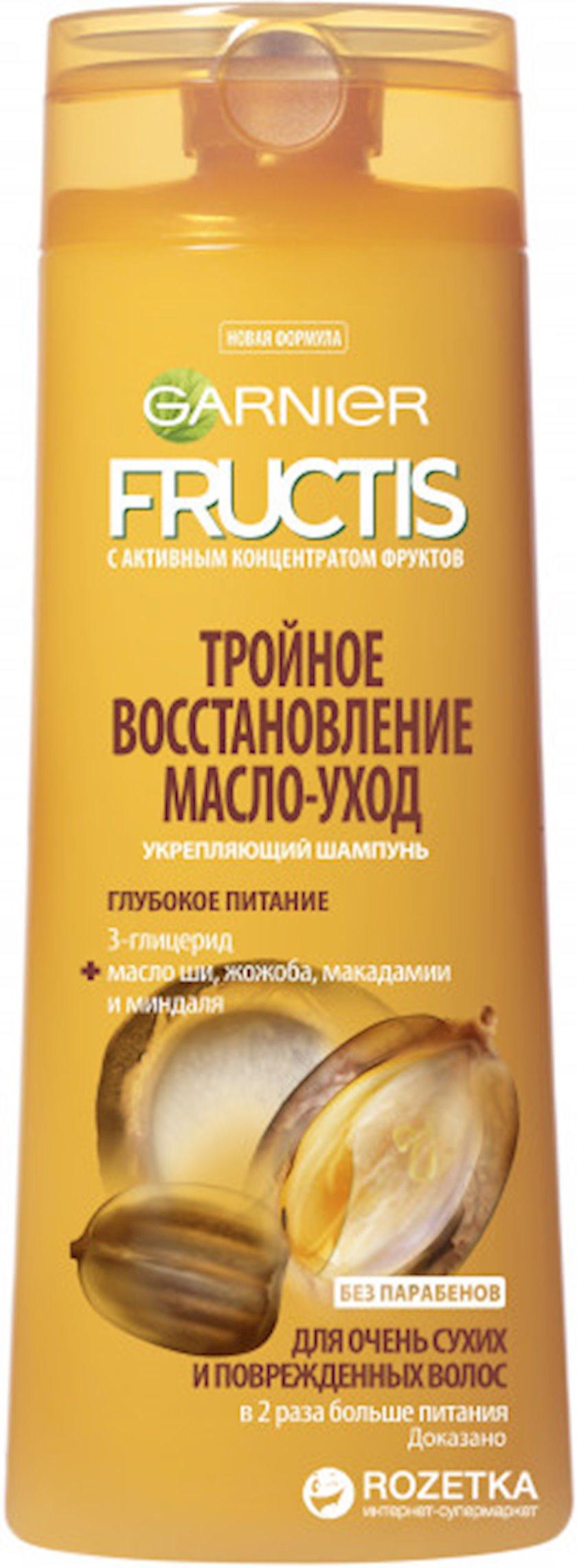 Şampun quru və zədələnmiş saçlar üçün üçqat bərpa, qulluq Fructis Garnier 200 ml