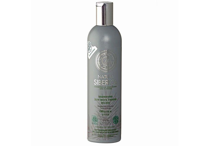 Şampun bütün saç tipləri üçün həcm və qulluq Natura Siberica 400 ml