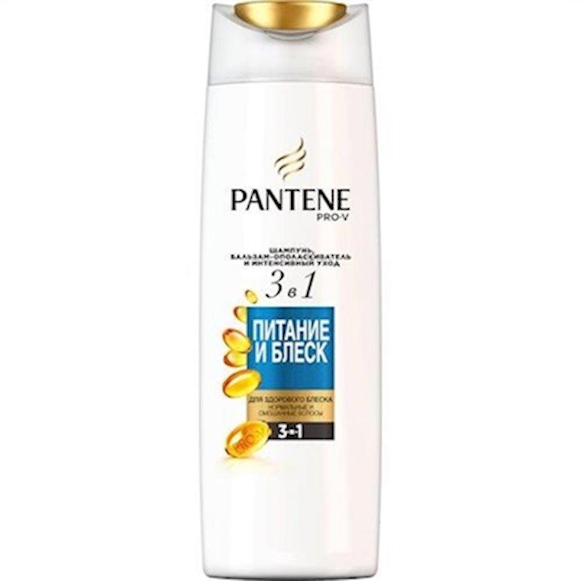 Şampun və balzam-yaxalayıcı Pro-V 3-ü 1-də qidalanma və parlaqlıq Pantene 360 ml