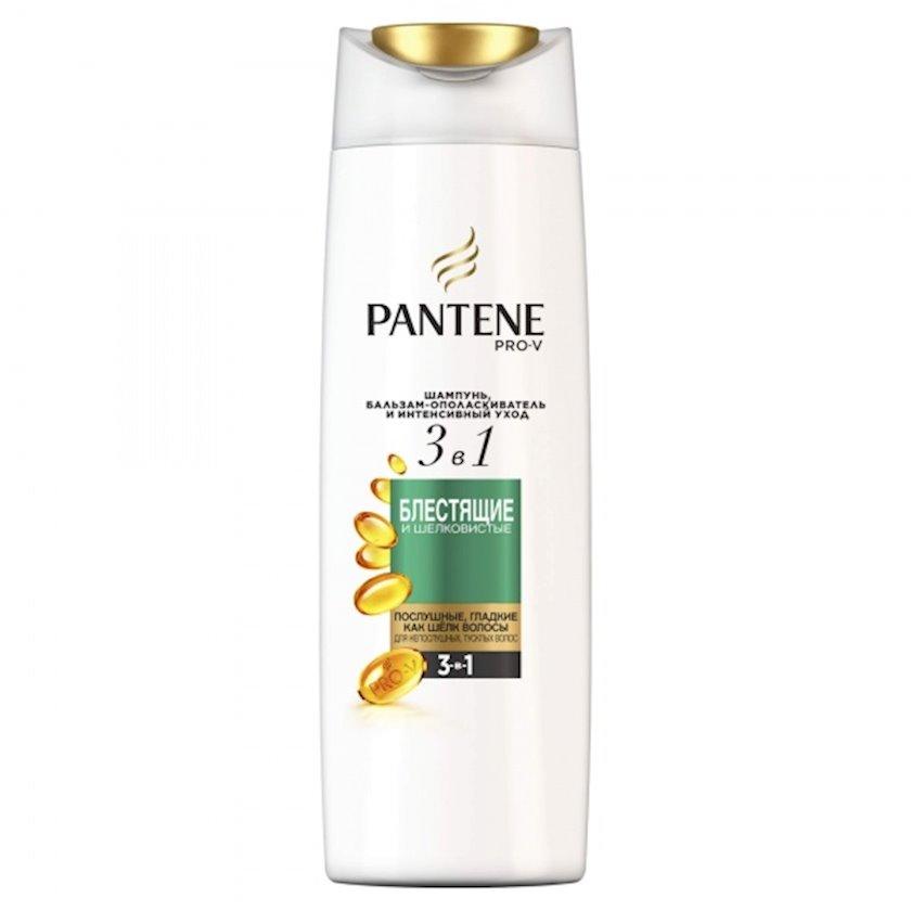 Şampun və balzam-yaxalayıcı Pro-V 3-ü 1-də parlaq və ipək Pantene 360 ml