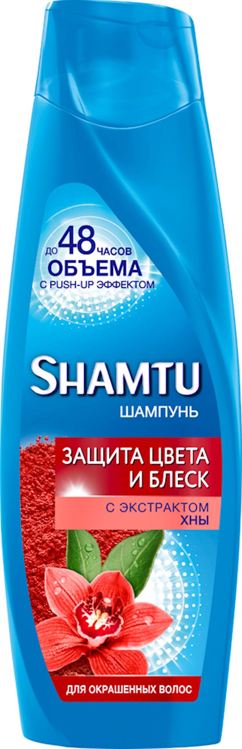Şampun xına ekstraktı ilə rəng və parıltı qorunması Shamtu 360 ml