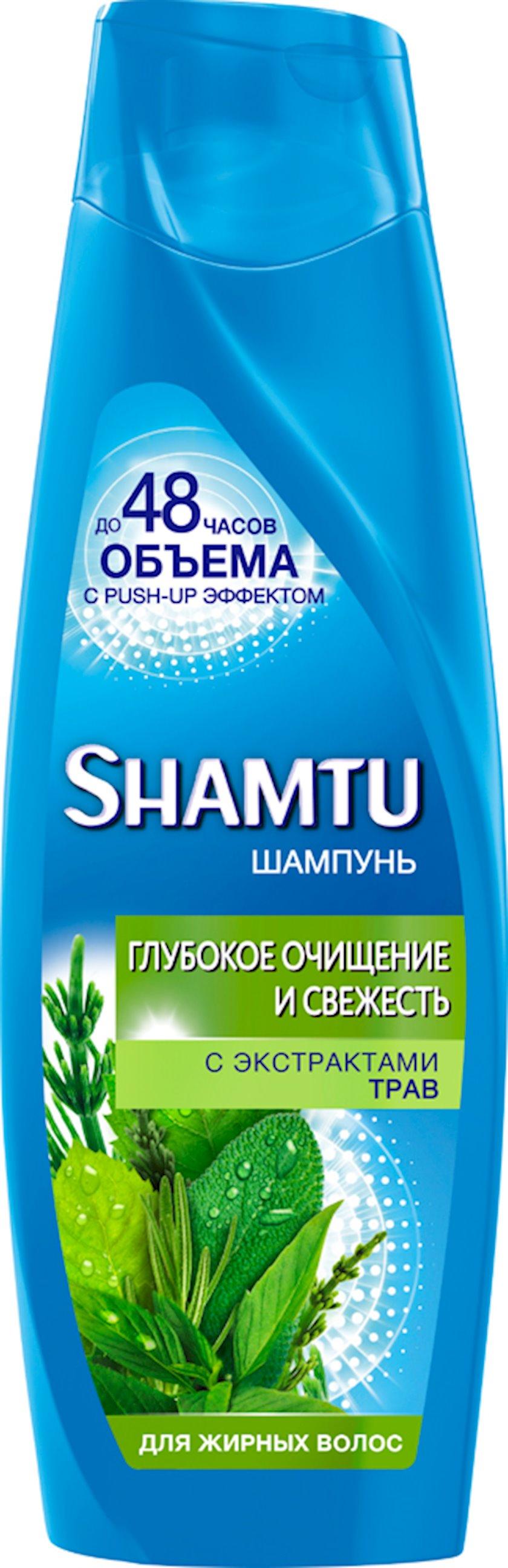 Şampun yağlı saçlar üçün bitki kokteyli Shamtu 360 ml