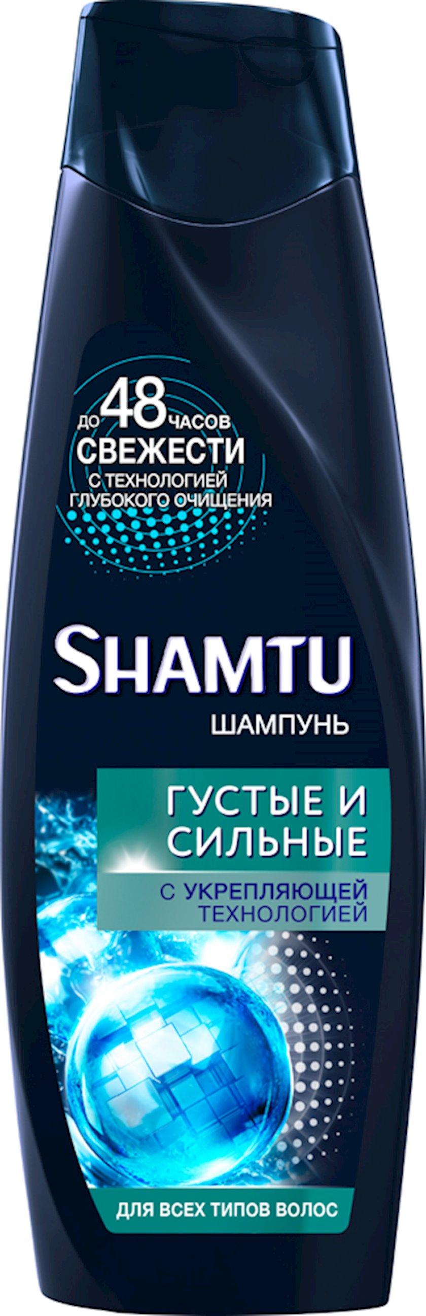 Şampun 100% kişilər üçün qalınlıq, güc və həcmi, bütün saç tipləri üçün Shamtu 360 ml